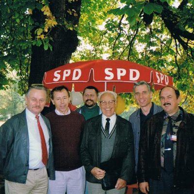 v.l.n.r.: Joachim Raubold, Manfred Bär, Wulf Seese, Werner Schulze, Dr. Christoph Gericke, Günter Pfeil