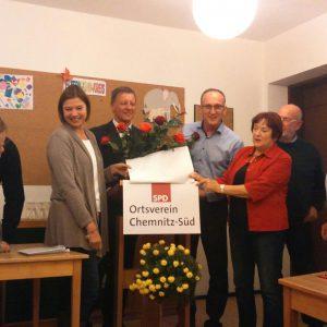 Gründungsversammlung des Ortsvereins in der Dietrich–Bonhoeffer–Kirchgemeinde