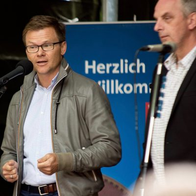 Carsten Schneider, MdB beim Sommerfest der Ortsvereine 2017